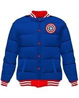 Marvel Captain America Proud Leader Adult Puff Jacket