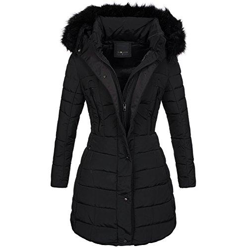 Warme Damen Winter Jacke Steppjacke Winterjacke gesteppt Parka gefüttert B424