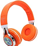 KEMANDUO Bluetooth Kopfhörer, drahtloser Kopfhörer Bluetooth Headset FM Musik/Tägliche Freizeit/Sport Verwenden Sie Folding Bluetooth Card Headset Beleuchtung Bluetooth Headset,J