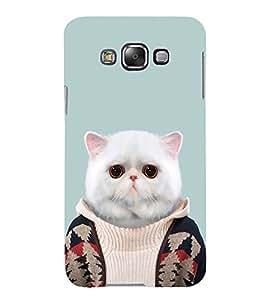 FUSON Cute Fat Persian Cat 3D Hard Polycarbonate Designer Back Case Cover for Samsung Galaxy E5 (2015) :: Samsung Galaxy E5 Duos :: Samsung Galaxy E5 E500F E500H E500Hq E500M E500F/Ds E500H/Ds E500M/Ds