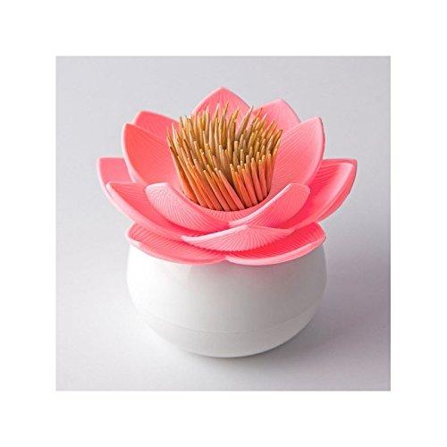 Neu Lotusform Wattestäbchen Spender Zahnstocher Halter Aufbewahrung Box Halter