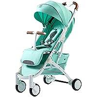 ZHAORU-Cochecitos Cochecito De Bebé Puede Sentarse Reclinable Luz Portátil Plegable Bebé Recién Nacido Bebé