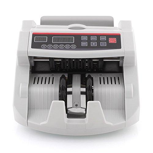 MVPOWER Geldzählmaschine Geldzähler Geldscheinzähler Bild / UV / IR / Magnetfeld, LED Display, Währung: Euro/Dollar schwarz