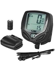 Cuentakilómetros inalámbrico de bicicleta TRIXES; velocímetro: ciclismo