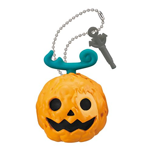 One Piece Double EarPhone Plug Jack Mascot Figure Swing Keychain ~Halloween~Mera Mera no Mi Flare (Double Dragon Mobile)