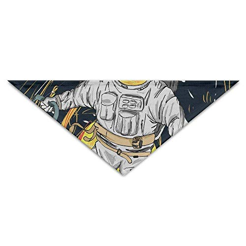 Sdltkhy Banana Spaceman Turban Triangle Scarf Bib Scarf Accessories Pet Scarf