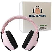 Comhoney pliable et réglable bébé Cache-oreilles Infant protection auditive casque anti-bruit de sécurité et réduction du bruit pour nouveau-né 3mois–2ans pour mise en veille de prise de vue Avion