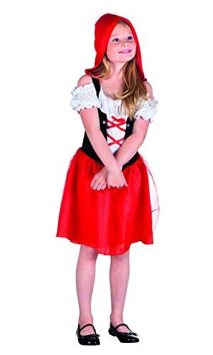 Boland 82196 - Cappuccetto Rosso Costume Bambina, Rosso/Bianco, 4-6 anni