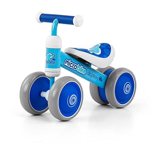 Sehr leichter (2 kg) und wendiger Micro Rutscher mit 6 Zoll Rädern in 5 Designs: Rutschauto Kinderauto schon ab 18 Monaten geeignet, Model:Dolphin
