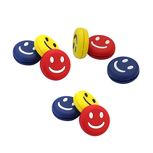 Senston Tennis-Zubehör es umfasst Tennis String Tennisschläger Abdeckung Tennisball Stoßdämpfer Training. - Vibration Dampener x 6 Pack