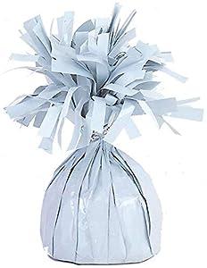 Unique Party- Peso del globo, Color blanco (49372)