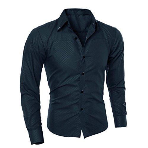Malloom Chemises Slim à Manches Longues Blouse imprimée à la Mode pour Homm