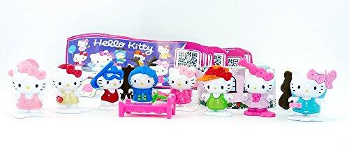 Kinder Überraschung, Komplettsatz Hello Kitty alle 8 Figuren Plus Zubehör Hello Kitty Figuren