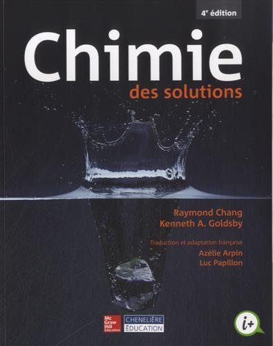 Chimie des solutions par Raymond Chang