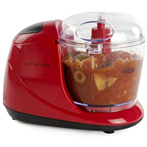 Andrew James Stunning Red 100 Watt Mini Chopper With One Touch Button And 150g Capacity