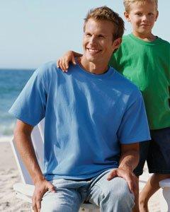 Big In Japan auf American Apparel Fine Jersey Shirt Babyblau