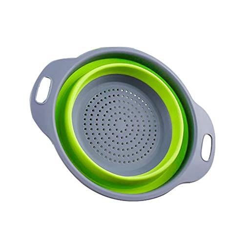 Faltbar Wash Colander Frutta Gemüse Küchenwagen faltbar Strainer Fgyhty