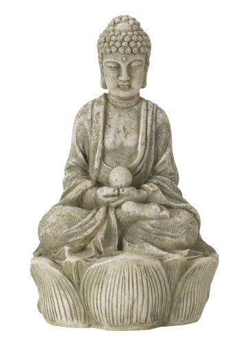 smart-solar-ornamental-buddha-spotlight-in-bronze-stone-effect