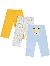 Miabens 3 Piezas Pantalones Largos de Dibujos Animados de Algodón para Niños/Niñas