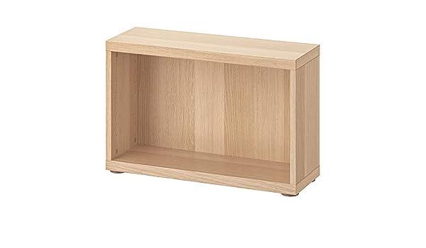 Ikea Besta Frame Frame White Stained Oak Effect 60x20x38