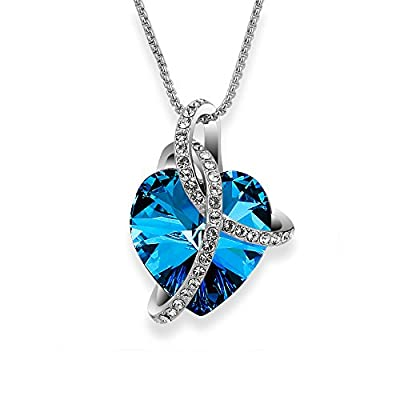 "Sivery ""Blessed Love"" Pendant Fashion Necklace with Crystal from Swarovski, Jewellery for Women"