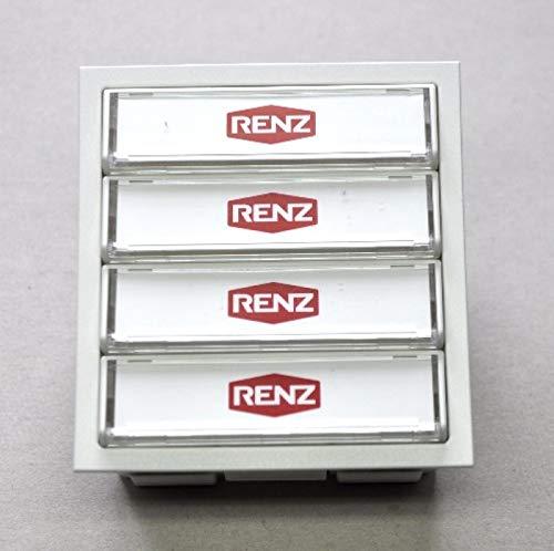 RENZ Tastenmodul mit 4 Klingeltaster weiß RENZ Nummer 97-9-85272