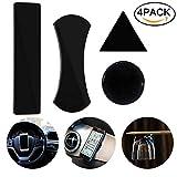 Nakeey 4 Stück Gel Pads, Schwarz Gel Anti-Rutsch-Pads Antirutschmatte Auto100% Sticky Anti-Slip Klebepad für Handy Ständer