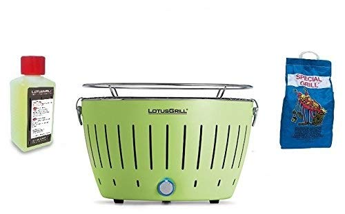 LOTUSGRILL NEW KIT by YESEATIS 2017 - Tabelle Grill + Ignition Kit Charcoal Hochleistungs und Gele - GRÜN