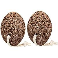 Lurrose 2Pcs natürliche Fuß Bimsstein doppelseitige Fuß Scrubber Dead Skin Callus Remover preisvergleich bei billige-tabletten.eu