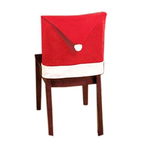 Kolylong® 1 PC Santa Red Hat Stuhlhussen Weihnachtsdeko Esszimmer Stuhl Cap Sets