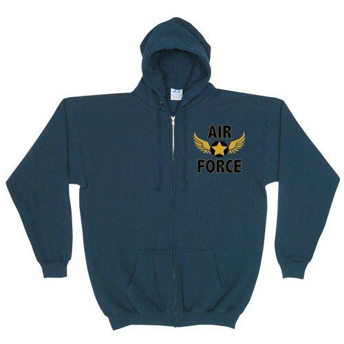 Fox Outdoor Products felpa con cappuccio con zip frontale Blue / Black