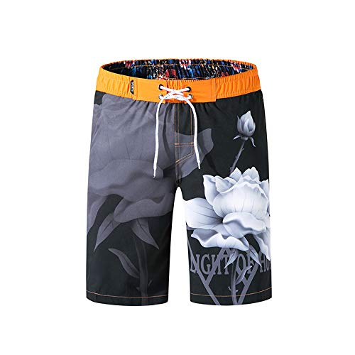 LuckyGirls Shorts d'homme Maillots de Bain Rapide Plage à Sec Surf Natation Courir Watershort(Noir,Large)