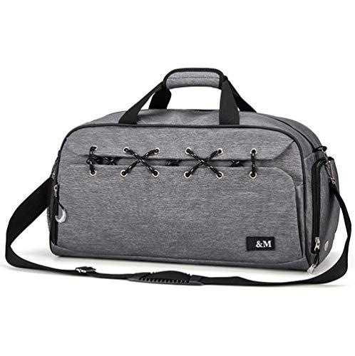 LYHY Sport-Sporttasche Crossbody-Umhängetasche mit Schuhfach und Nasstasche, Reisetasche Training Reisetasche-Unisex-grey