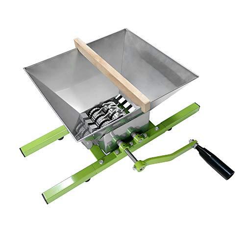Froadp 7L Edelstahl Obstmühle Maischemühle Obst Schredder mit Handkurbel (Obstmühle, 7L)