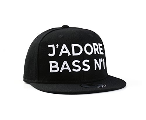 Underground Kulture J'adore Bass N°1 Noir Casquette Réglable (Black Snapback Cap)