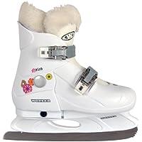 Pattini da ghiaccio con peluche Kira pattinaggio misura regolabile, bianco