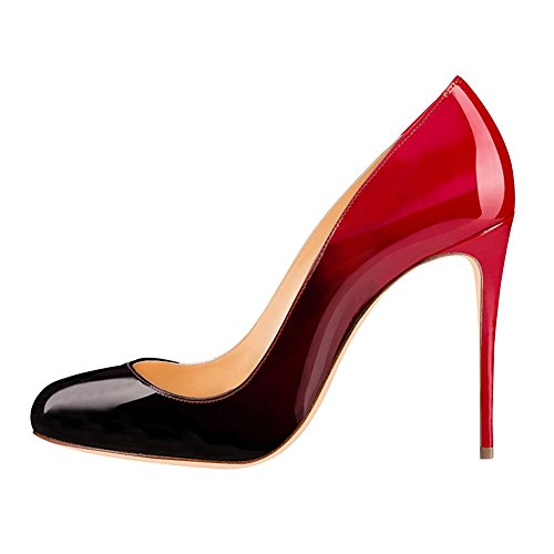 EKS Damen Sexy Runde Zehe Stilettos High Heel Schuhe Partei Kleid ...