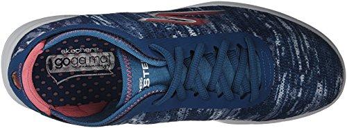 Skechers Donna Go Step - Scarpe da Ginnastica Basse Blu (Blue/pink)
