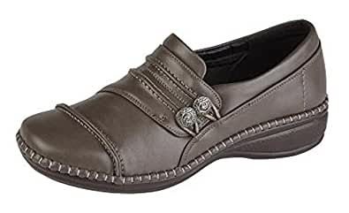 a9bfb11d5aab Boulevard Womens Extra Wide EEE Fit Shoes Size 3-9 Brown  Amazon.co ...