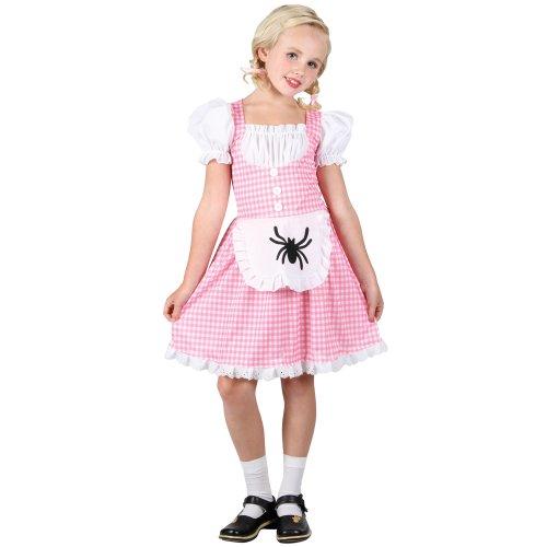 Little Miss Muffet Kinderreim Verkleidung für Mädchen Fasching Karneval Kostüm M