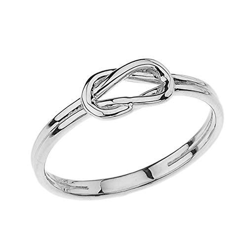 Kleine Schätze Damen Ring Hercules Love Knot Ring in 10 Karat Weißgold