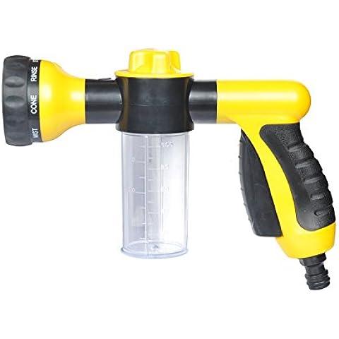 Regolabile ad alta pressione auto lavaggio a spruzzo Pistola 8modalità acqua Tubo ugello pistola Squirt irrigazione giardinaggio con liquido di pulizia concime contenitore