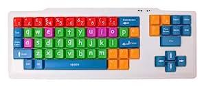 DURAGADGET Clavier USB d'Apprentissage pour Enfants / Personnes à Visibilité Réduite - Touches de Grande Taille - QWERTY