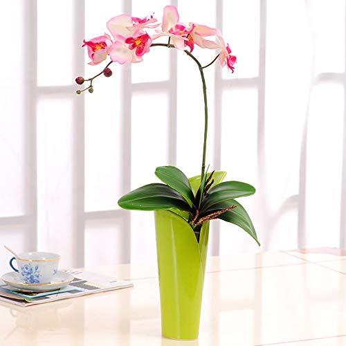 Tackebu orchidea artificiale fiori finti phalaenopsis composizione floreale salotto rosso 60 × 30cm