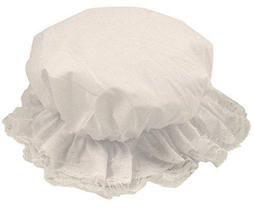 Enfant fille chapeau charlotte blanc déguisement pauvre femme de chambre victorien servante