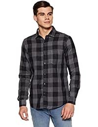 Diverse Men's Checkered Regular Fit Casual Shirt