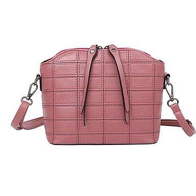 SUNNY KEY-Borsa a tracolla @ Donna Borsa a tracolla PU (Poliuretano) Per tutte le stagioni Casual Conchiglia Cerniera Nero Rosso Rosa Grigio , red blushing pink