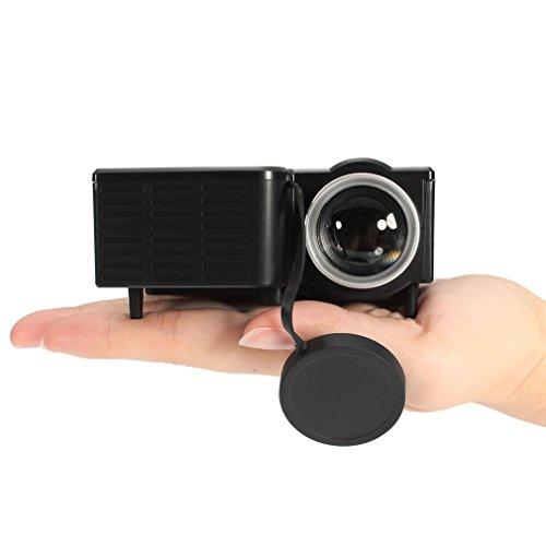 Mini proiettore led 1080p multimedia famiglia cinema home theater portatile ingresso scheda usb tf mini beamer per pc laptop, tipo ue