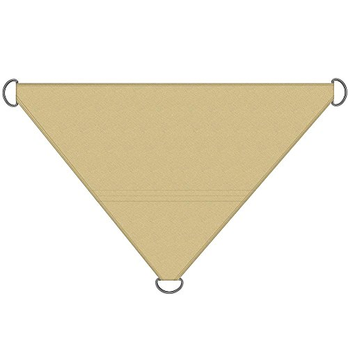 Su-luoyu Voile d'ombrage Triangulaire Toile d'ombrage pour Jardin Terrasse Camping Barbecue Piscine Portable Pliable