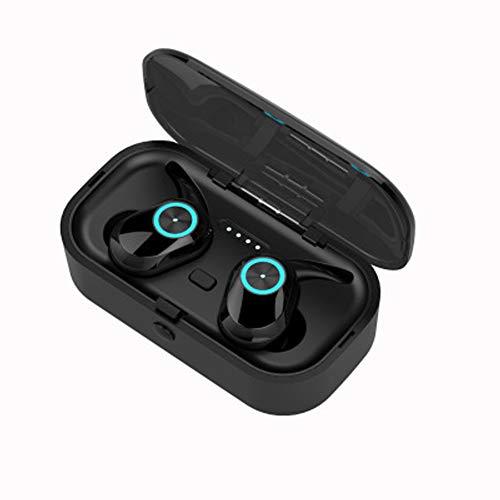 Unbekannt Bluetooth-Kopfhörer, kabellose Kopfhörer 5.0 Touch Control-kabellose Kopfhörer Bluetooth, Bluetooth-Ohrhörer, intelligente Rauschunterdrückung und Bluetooth-Batterieanzeige-Black (4g Touch Ipod Verwendet)